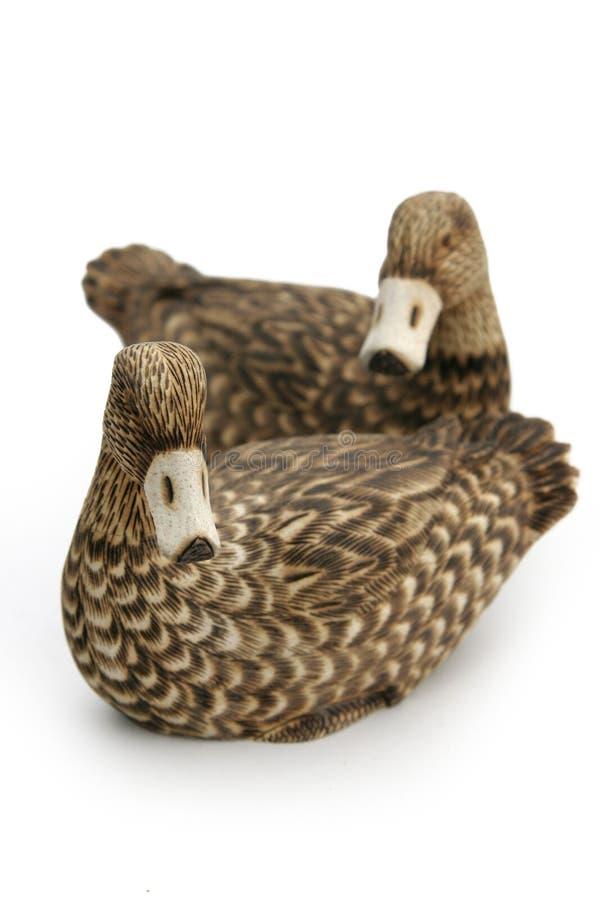Download Wooden ducks stock photo. Image of wood, decorative, left - 342504