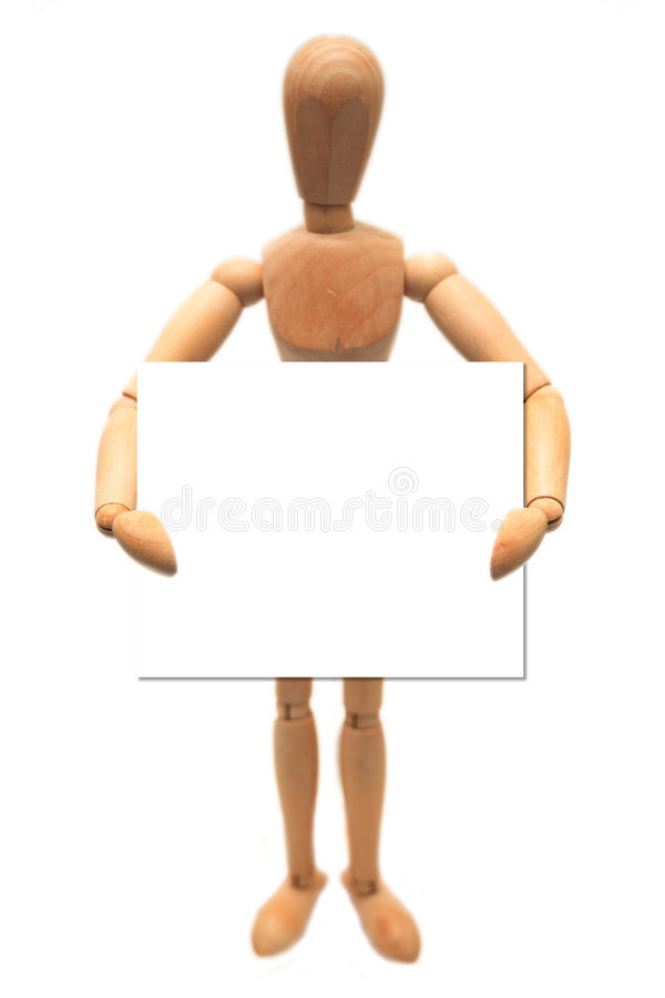 Wooden Dummy stock image
