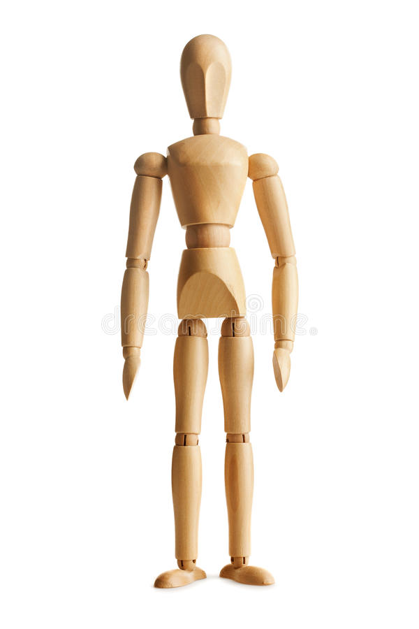 Wooden dummy stock photography