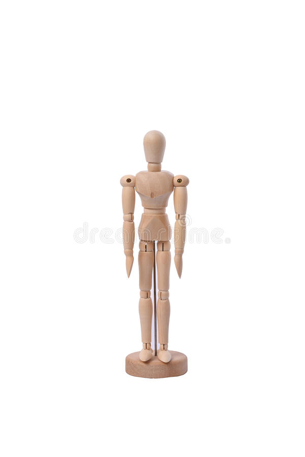 Wooden dummy royalty free stock images