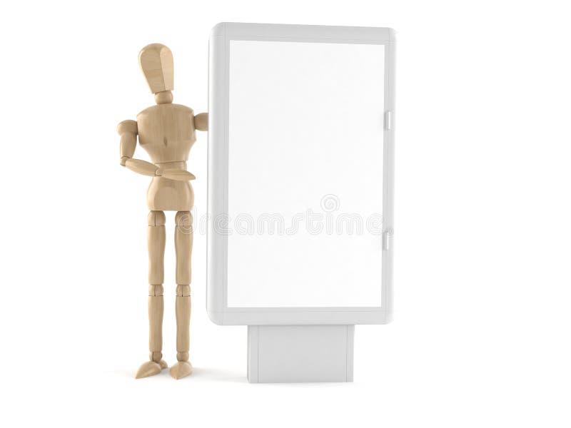 Wooden dummy. Isolated on white background royalty free illustration