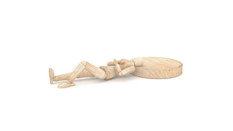 Wooden dummy Sleep stock photos