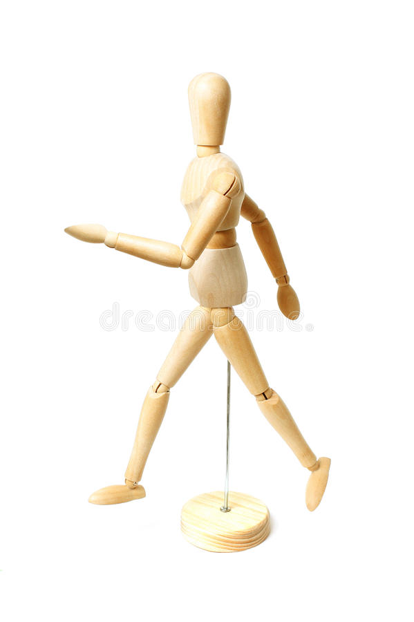 Download Wooden dummy walking stock photo. Image of happy, doll - 38309798