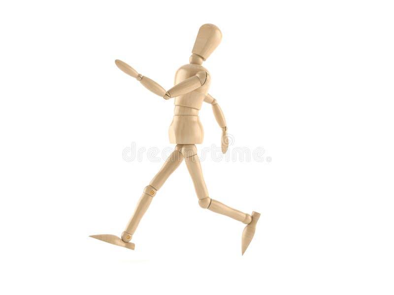 Wooden dummy. On white background vector illustration