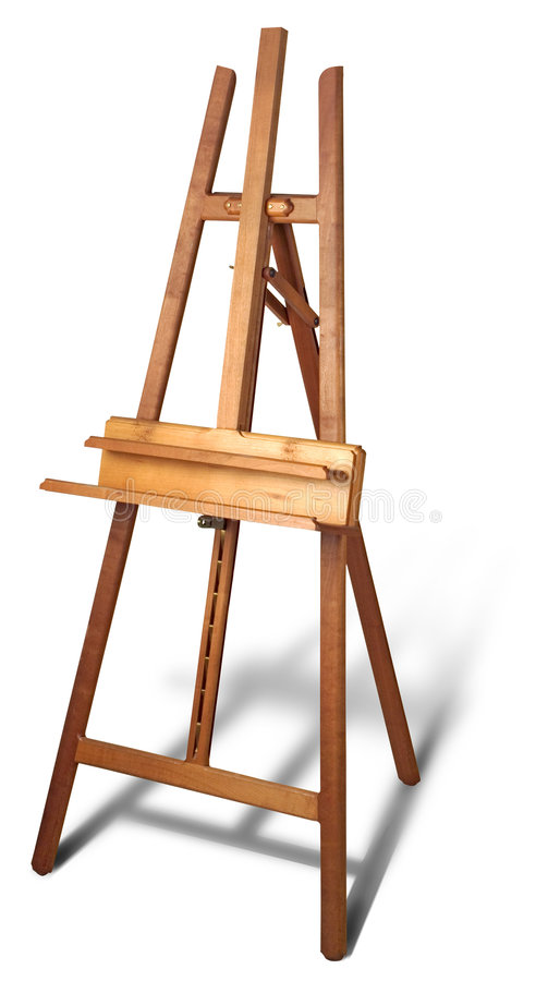 Download Wooden easel stock photo. Image of paint, wood, canvas, hobbies - 39124