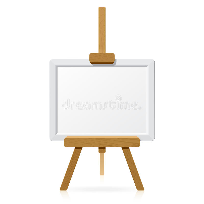 Download Wooden Easel With Blank Canvas Stock Vector - Image: 10163929