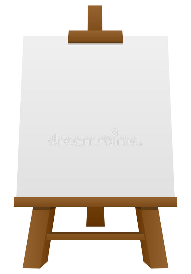Download Wooden Easel With Blank Canvas Stock Vector - Image: 30577886