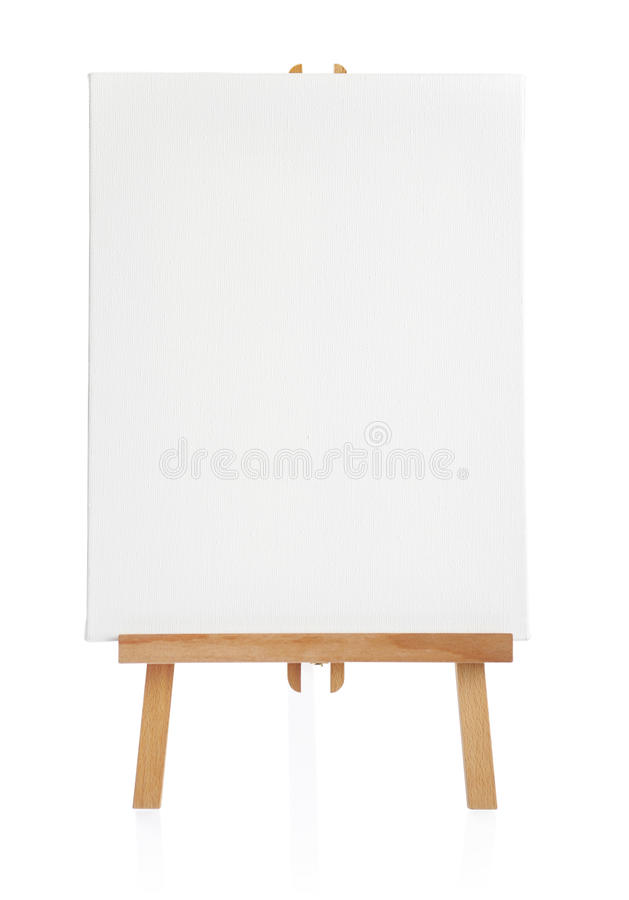 Download Easel with blank canvas stock photo. Image of exhibition - 30145076