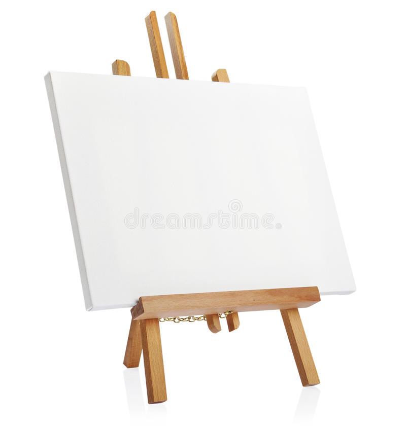 Download Wooden Easel With Blank Canvas Stock Image - Image: 30145077