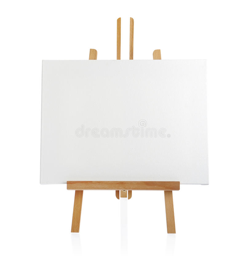 Wooden Easel With Blank Canvas Stock Photo Image 30145082