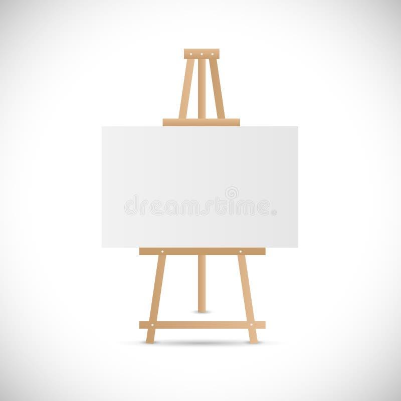 Wooden Easel Illustration Stock Vector Image 48221660