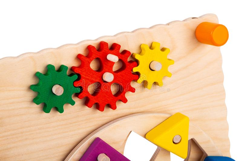 Wooden toy for kids stock photos