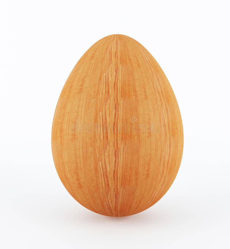 Wooden Egg Royalty Free Stock Photo
