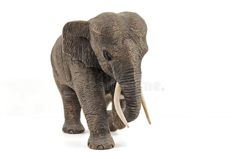 Wooden elephant royalty free stock photography