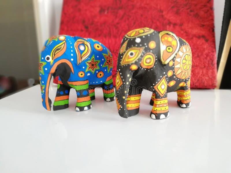 Wooden Elephant royalty free stock photography