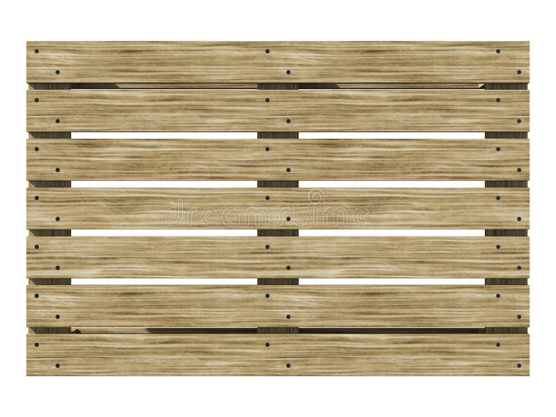 Wooden euro-pane top view. 3d illustration. royalty free illustration