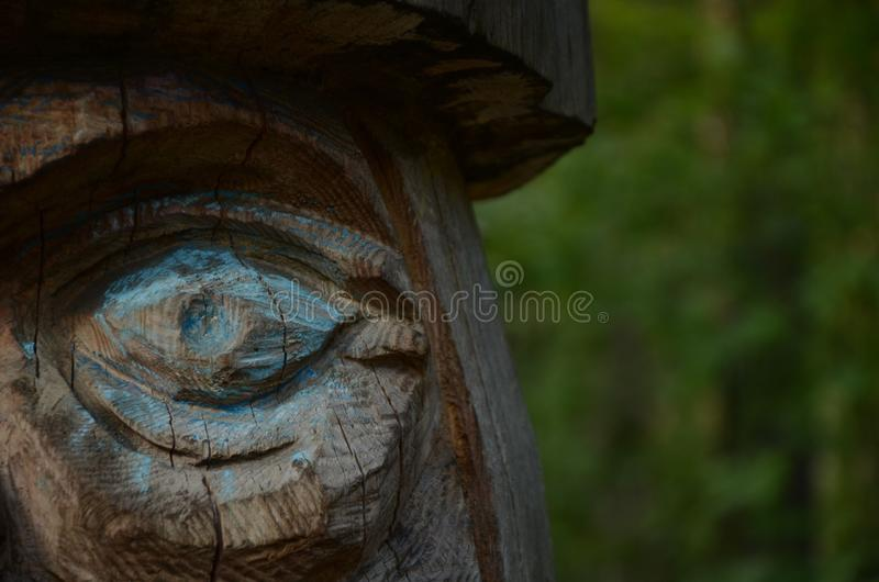 Wooden eye royalty free stock photo