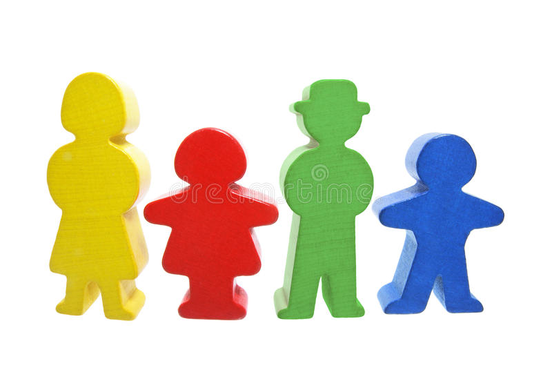 Wooden Family Figures stock images