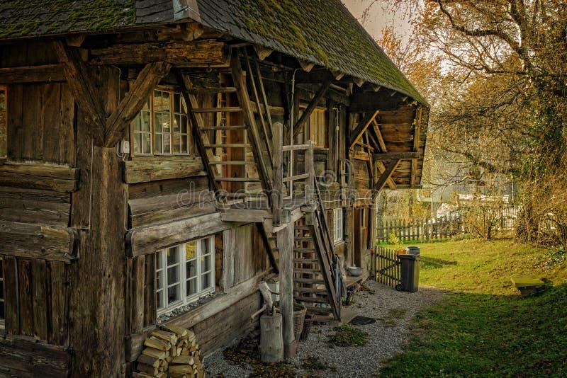 Wooden farm house royalty free stock photo