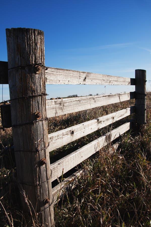 Wooden Farmland Fence Stock Image