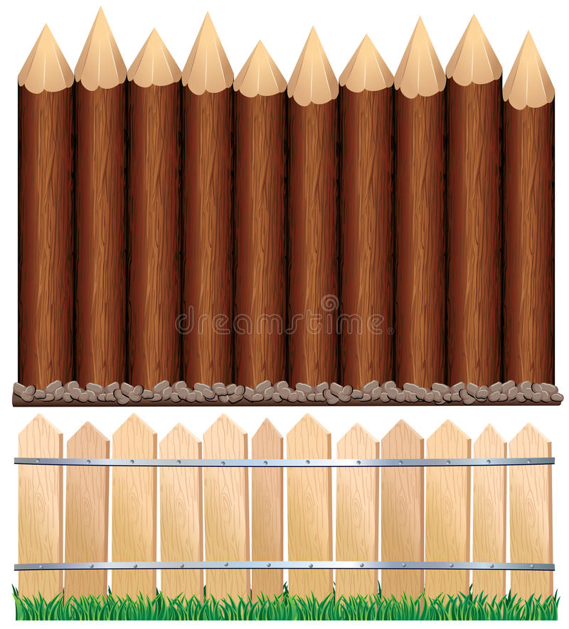 Download Wooden Fence stock vector. Illustration of outdoors, brown - 16171585