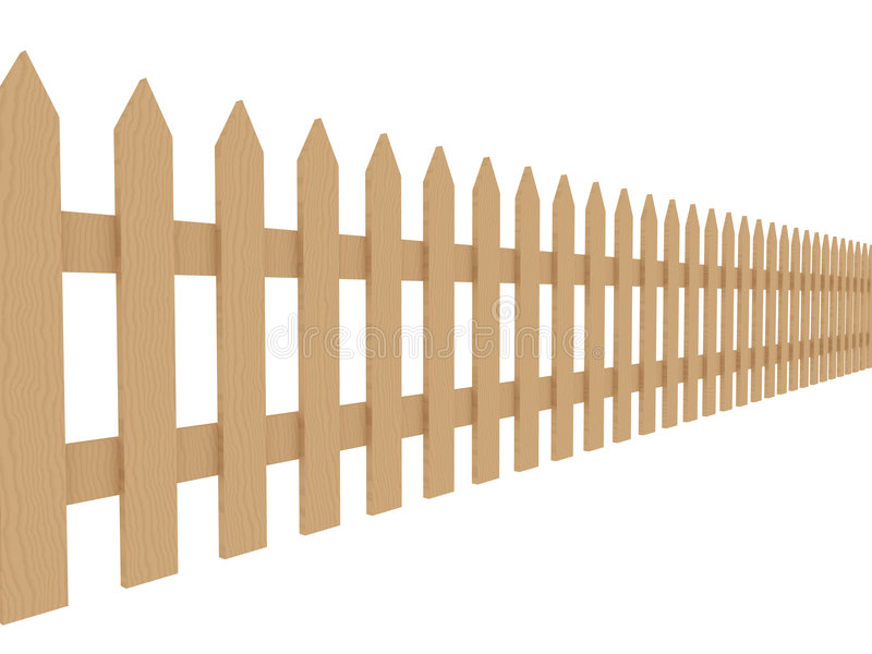 Wooden Fence 2 stock illustration