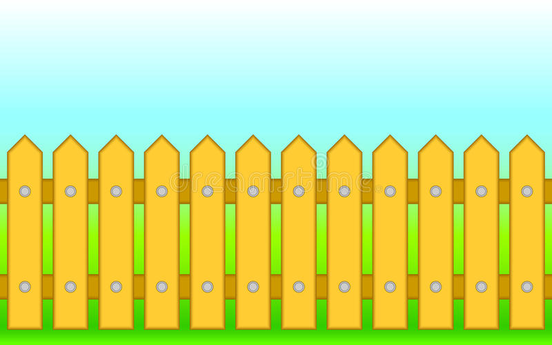 Download Wooden fence. stock vector. Image of nails, protection - 24274175