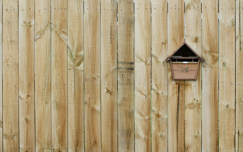 Download Wooden Fence stock image. Image of fence, letterbox, texture - 28424475