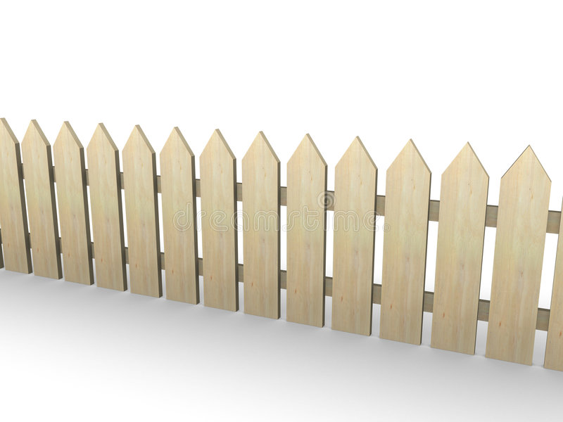 Download Wooden fence stock illustration. Image of house, concept - 3036971