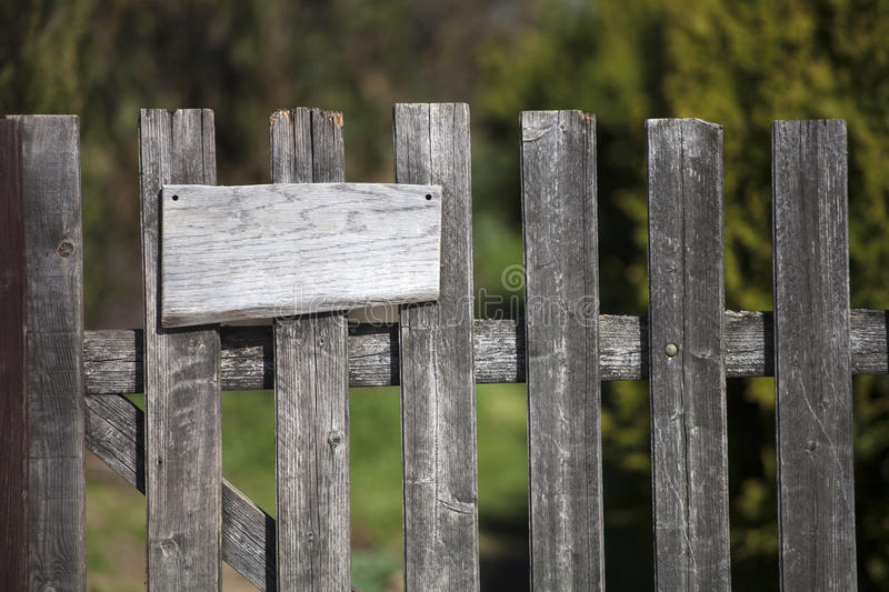 Download Wooden Fence With Empty Sign Board Stock Photos - Image: 34562773