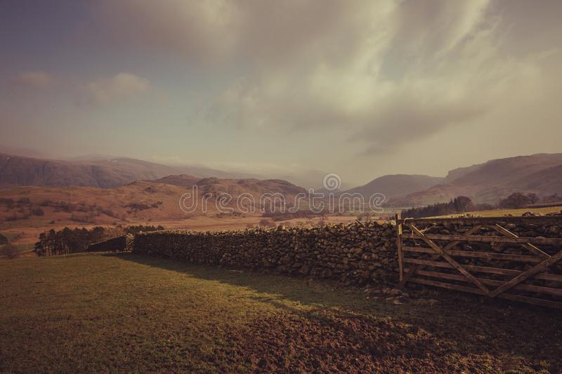 Wooden Fence in a Farm royalty free stock images