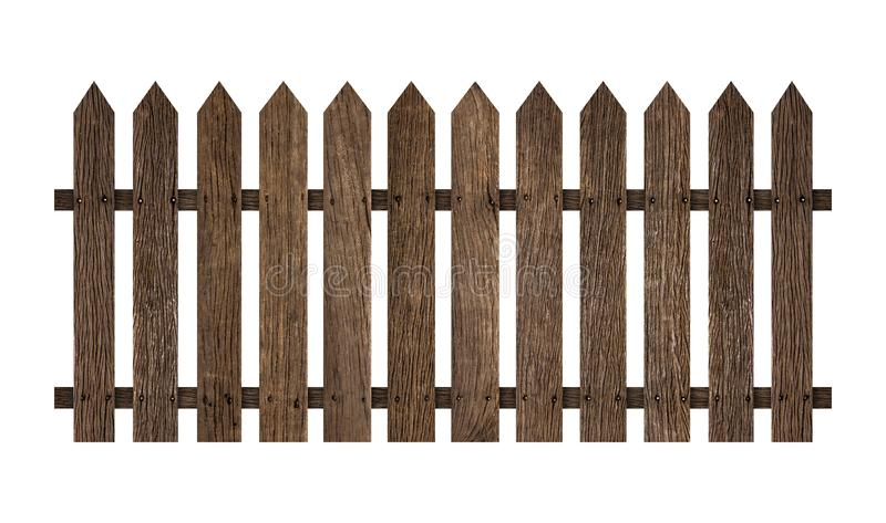 Wooden fence isolated on white background. Clipping path include in this image stock images