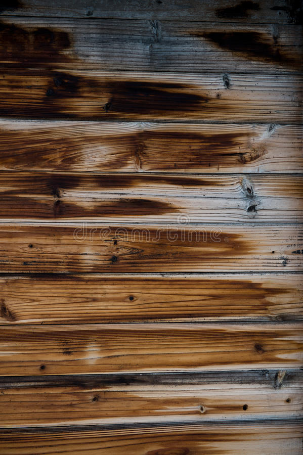 Wooden fence panels stock photography