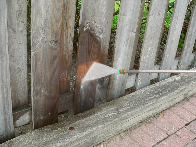 Download Wooden Fence Power Wash stock image. Image of clean, yard - 328373