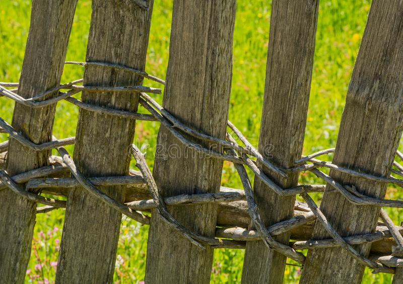 Wooden fence in south tyrol, Italy. stock photography