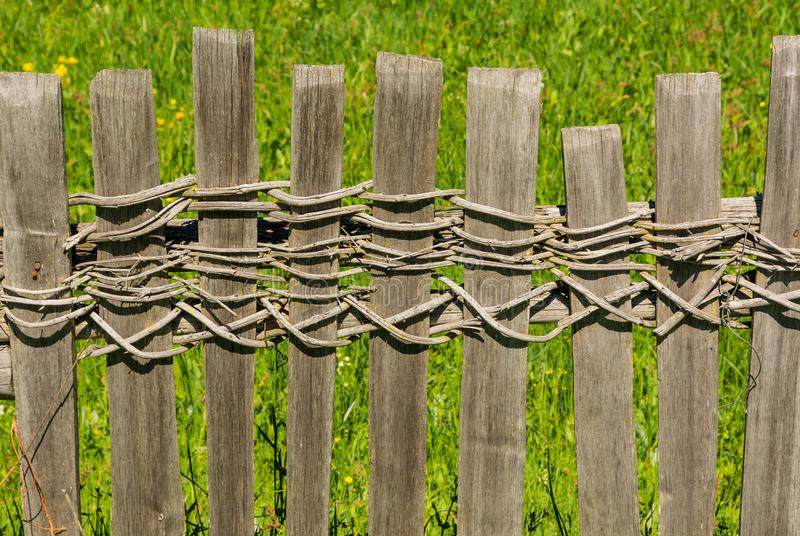 Wooden fence in south tyrol, Italy. royalty free stock photo