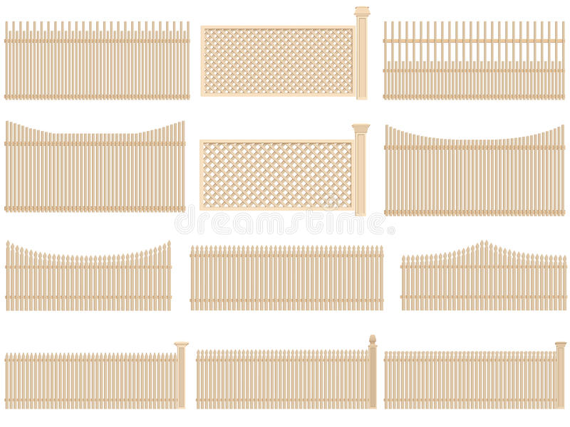 Download Wooden Fence With Volume And Shadows. Stock Vector - Image: 26575487