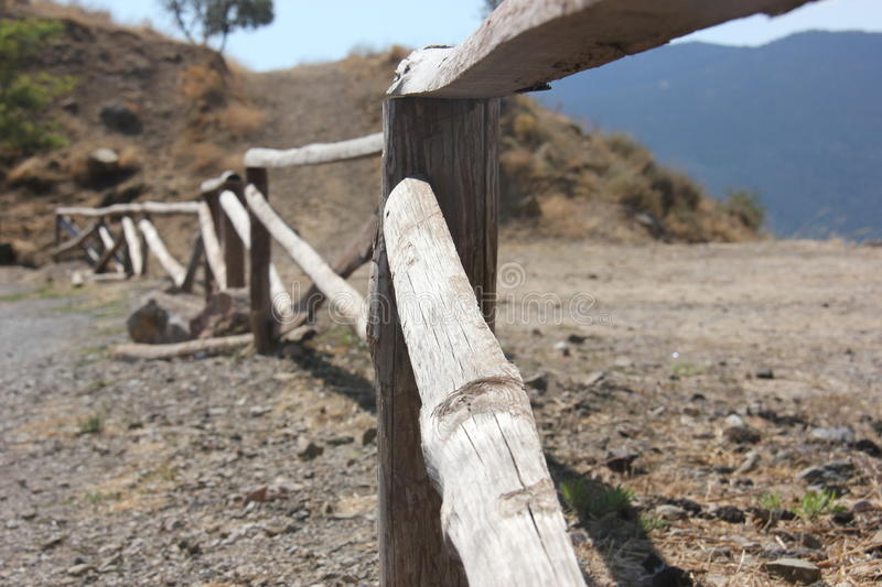 Wooden fence stock photography