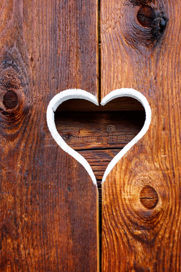Free Wooden Fence With Heart. Part Of A Window In Tirol, Austria Royalty Free Stock Photos - 116704468