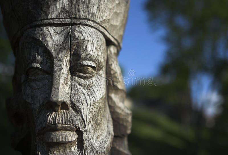 Wooden figure stock image