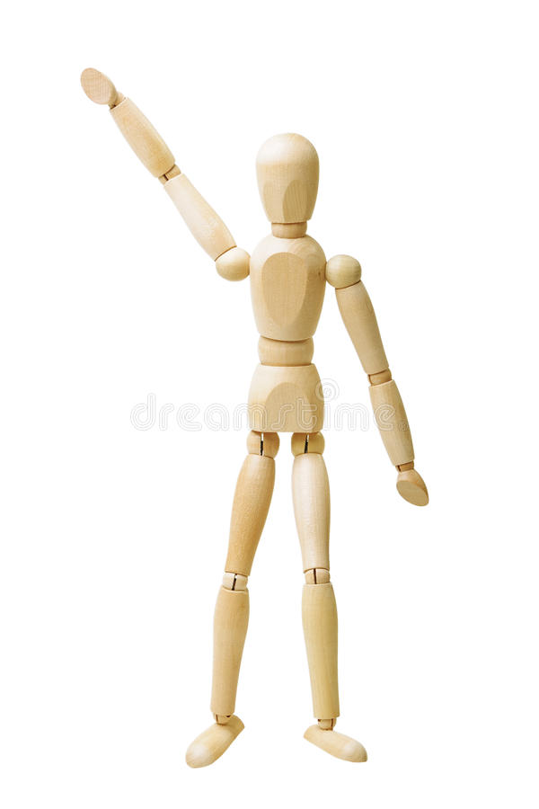 Download Wooden figure stock image. Image of human, isolated, greeting - 25119261