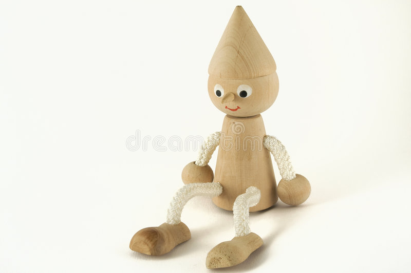 Wooden figure royalty free stock photo