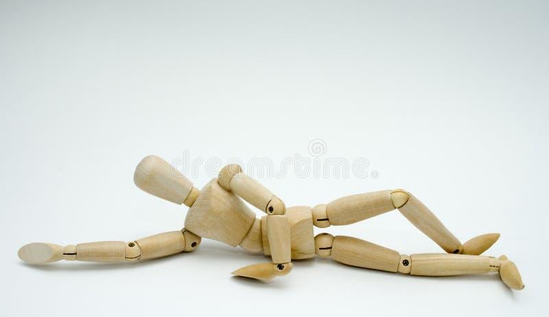 Wooden figure concepts stock photos