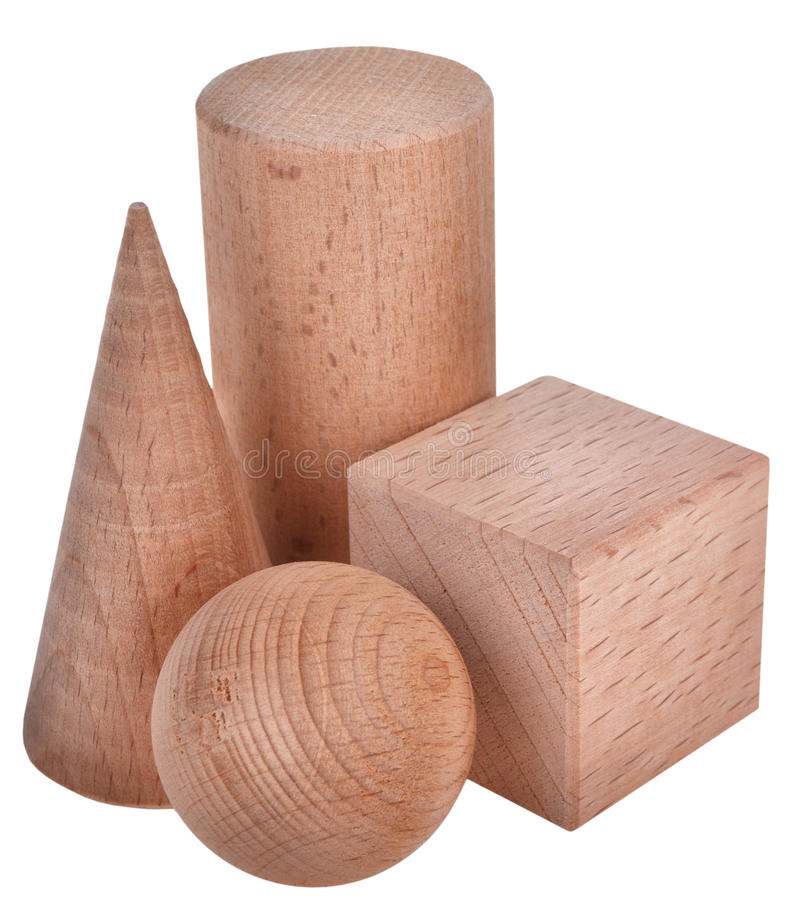 The wooden figure geometric shape royalty free stock photography