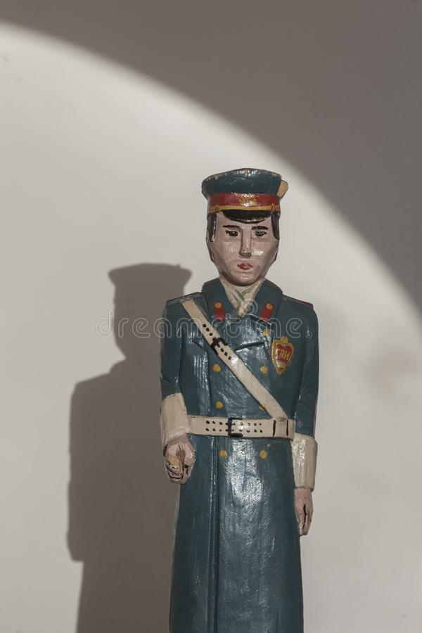 4ab6efccf Wooden Figure Of Traffic Policeman From Ex Soviet Union Stock Image ...