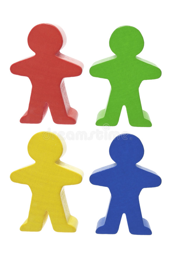 Wooden Figures royalty free stock images