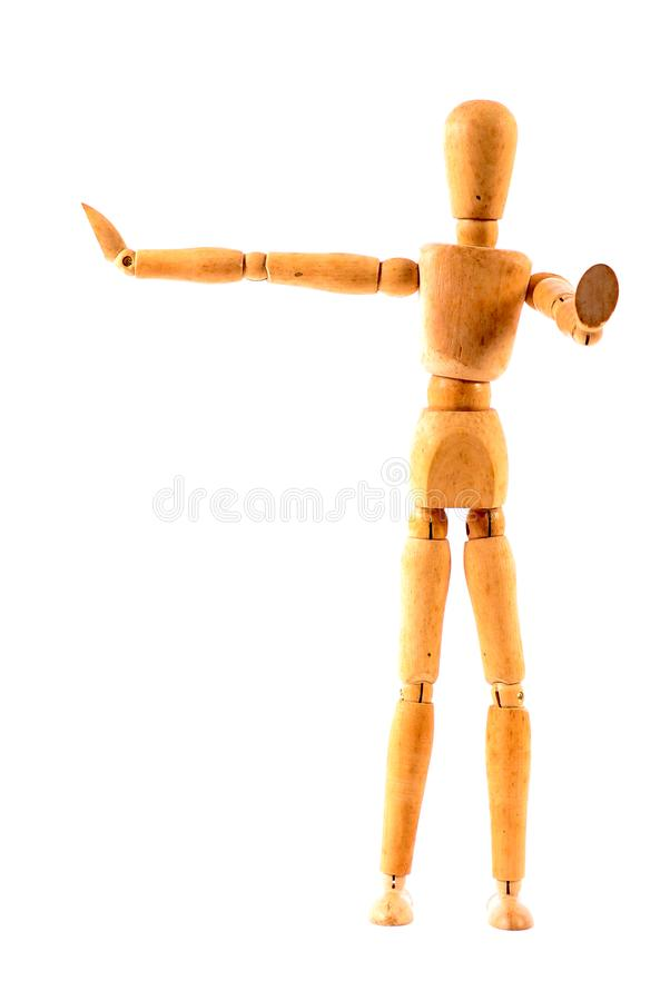 Wooden figurine royalty free stock photo