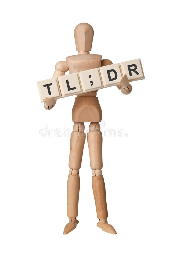 Too Long; Didn`t Read stock photo