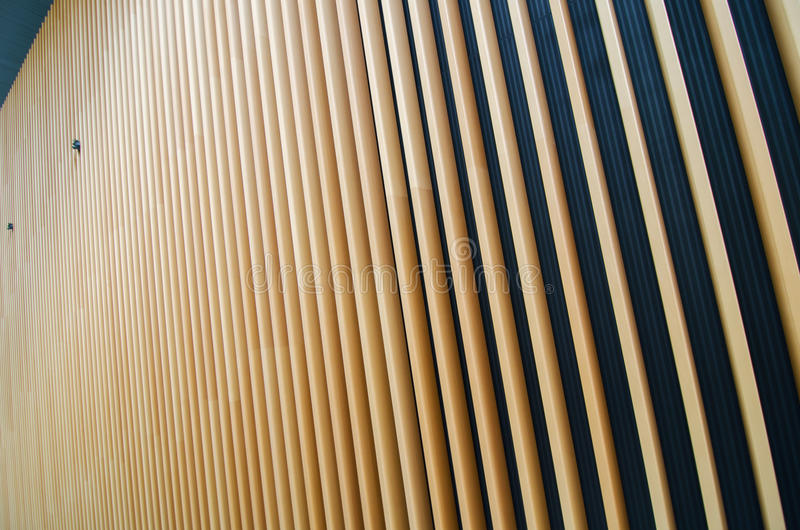 Wooden fin of modern building royalty free stock images