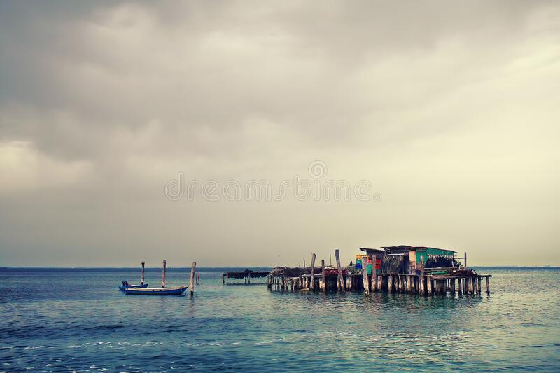Wooden Fishing House  royalty free stock photos